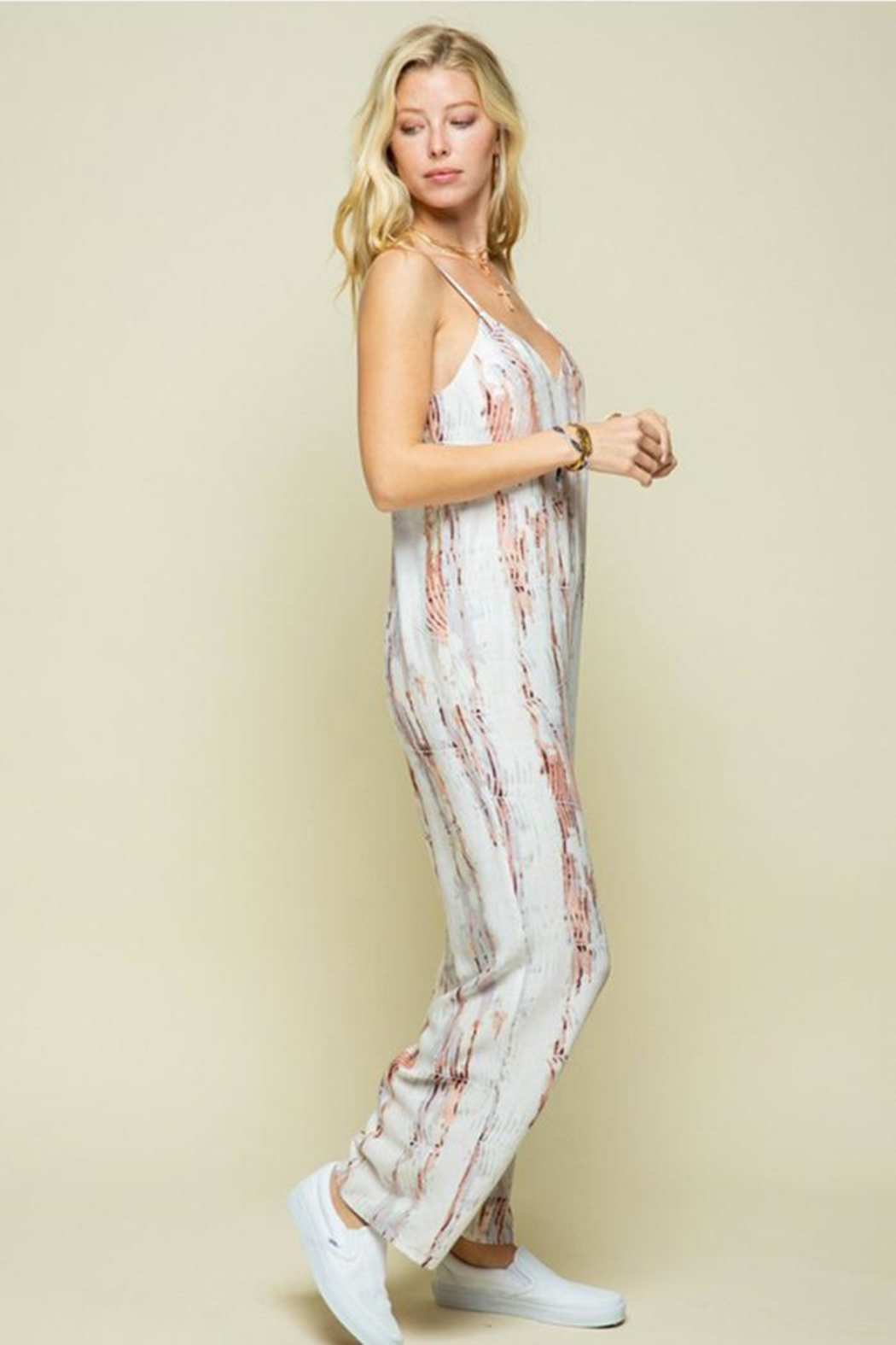 Style Rack Patterned Jumpsuit - Back Cropped Image