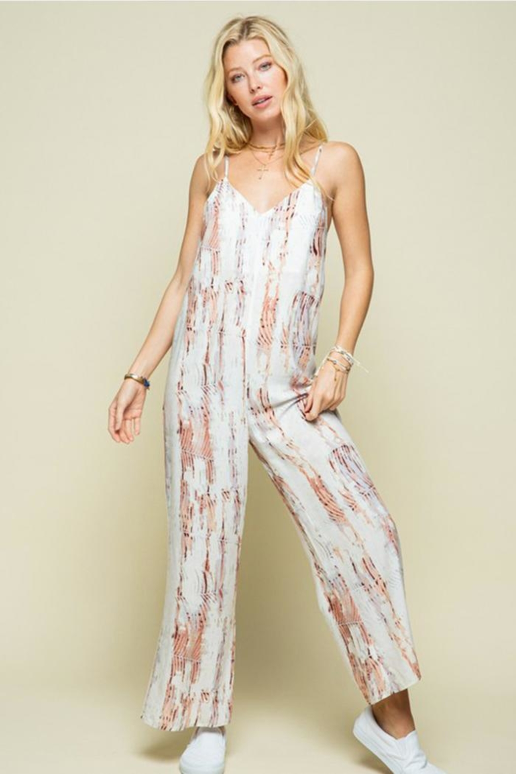 Style Rack Patterned Jumpsuit - Main Image
