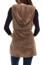 Style Rack Plush Hooded Vest - Side cropped