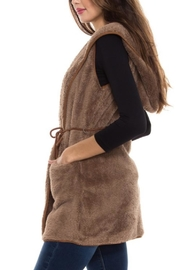Style Rack Plush Hooded Vest - Back cropped