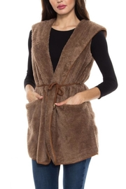 Style Rack Plush Hooded Vest - Front cropped