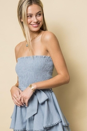 Style Rack Smoked Tube Romper - Front cropped