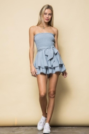 Style Rack Smoked Tube Romper - Side cropped