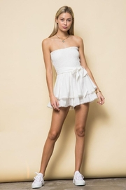 Style Rack Smoked Tube Romper - Back cropped