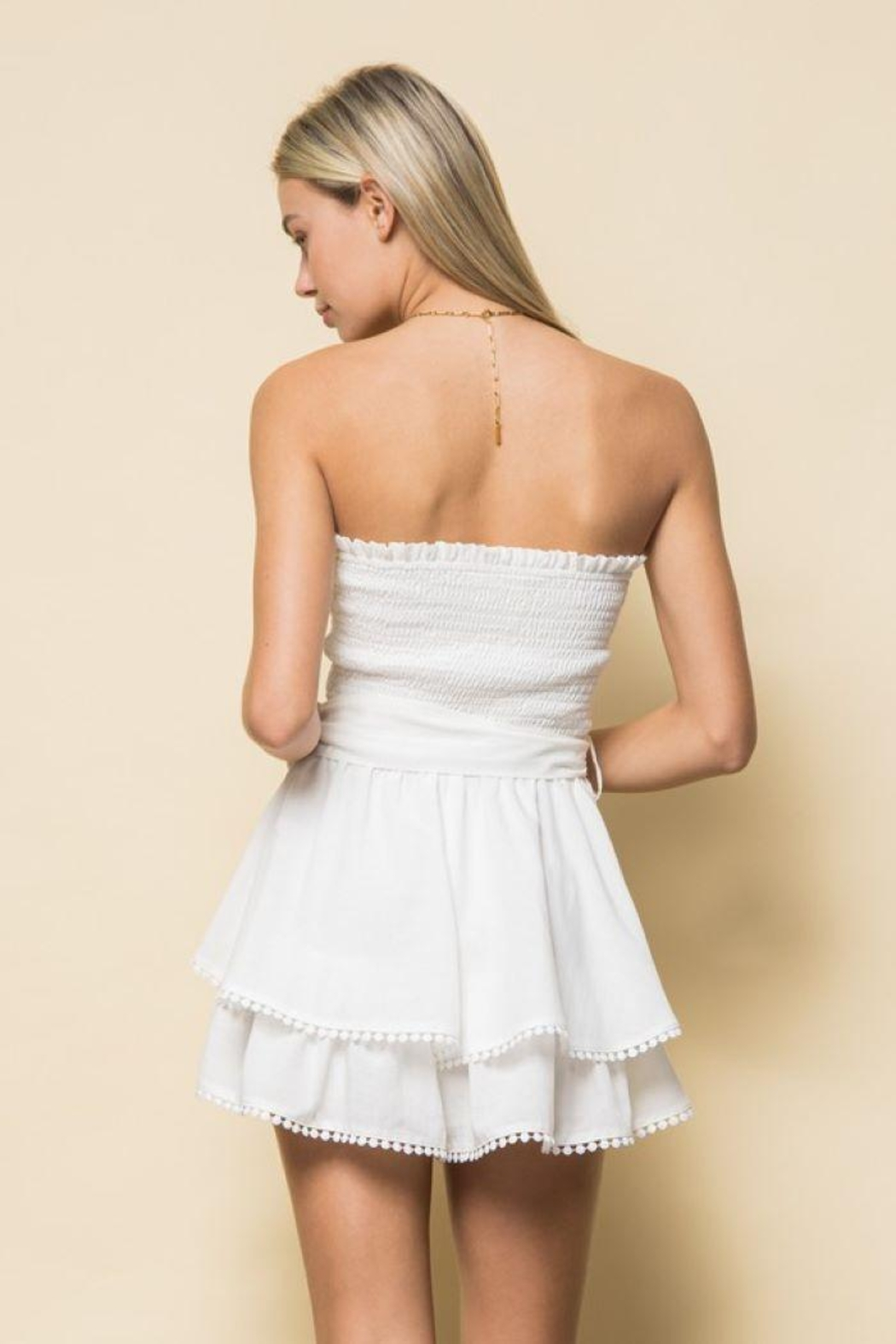 Style Rack Smoked Tube Romper - Side Cropped Image