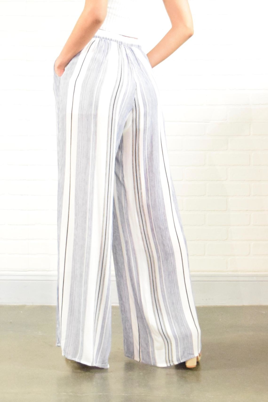 Style Rack Stripe Pants - Side Cropped Image