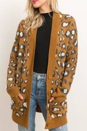 Style Trolley Animal Print Knit-Cardigan - Product Mini Image