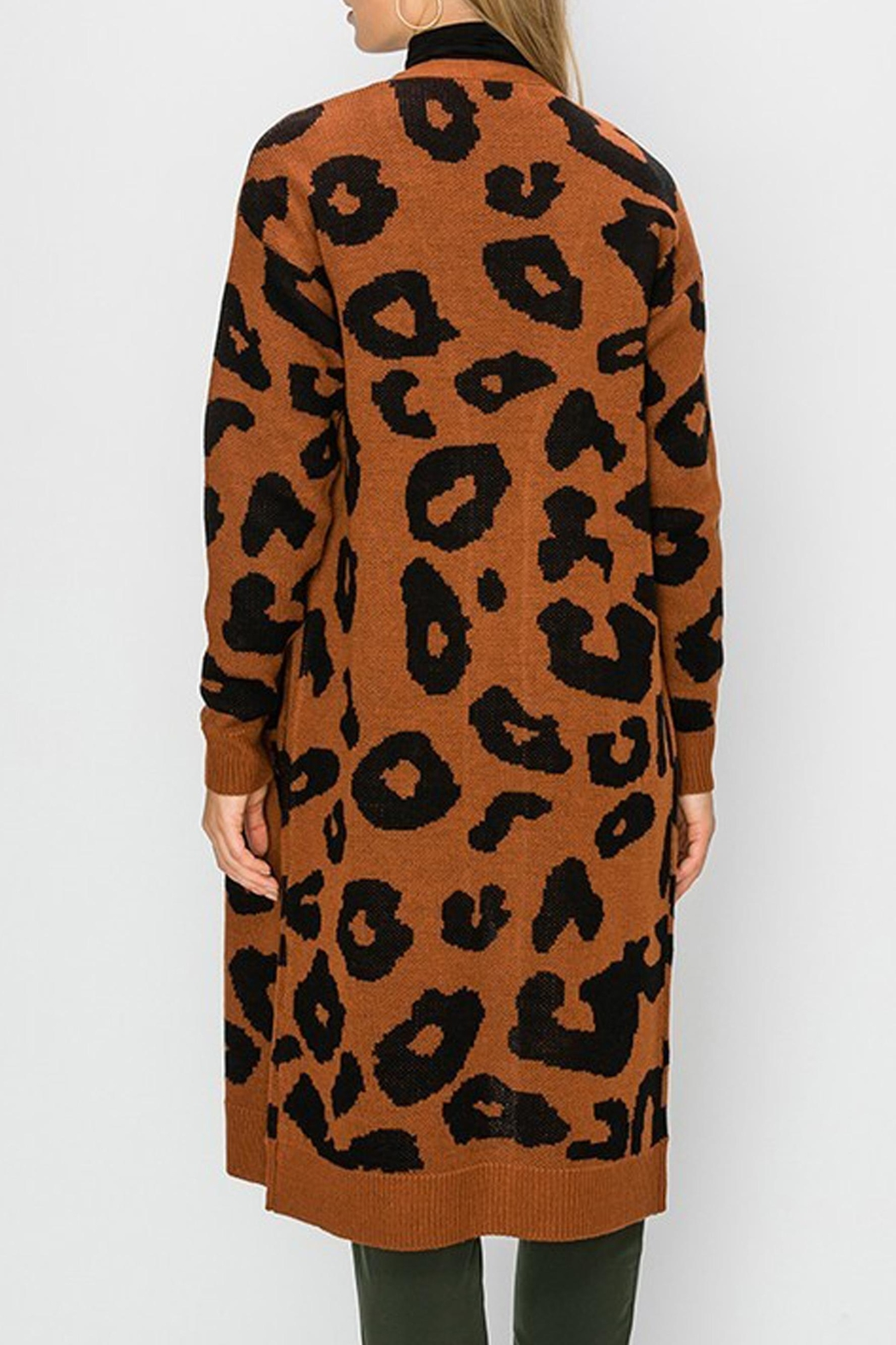 Style Trolley Bagheera Print Cardigan - Side Cropped Image