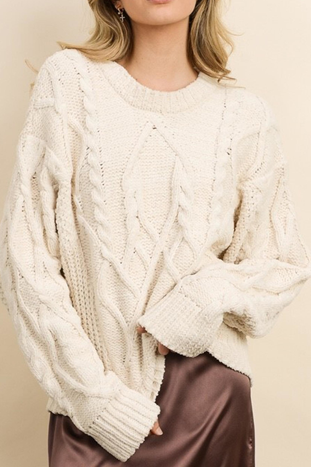 Style Trolley Cableknit Pullover - Main Image