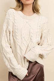 Style Trolley Cableknit Pullover - Front cropped