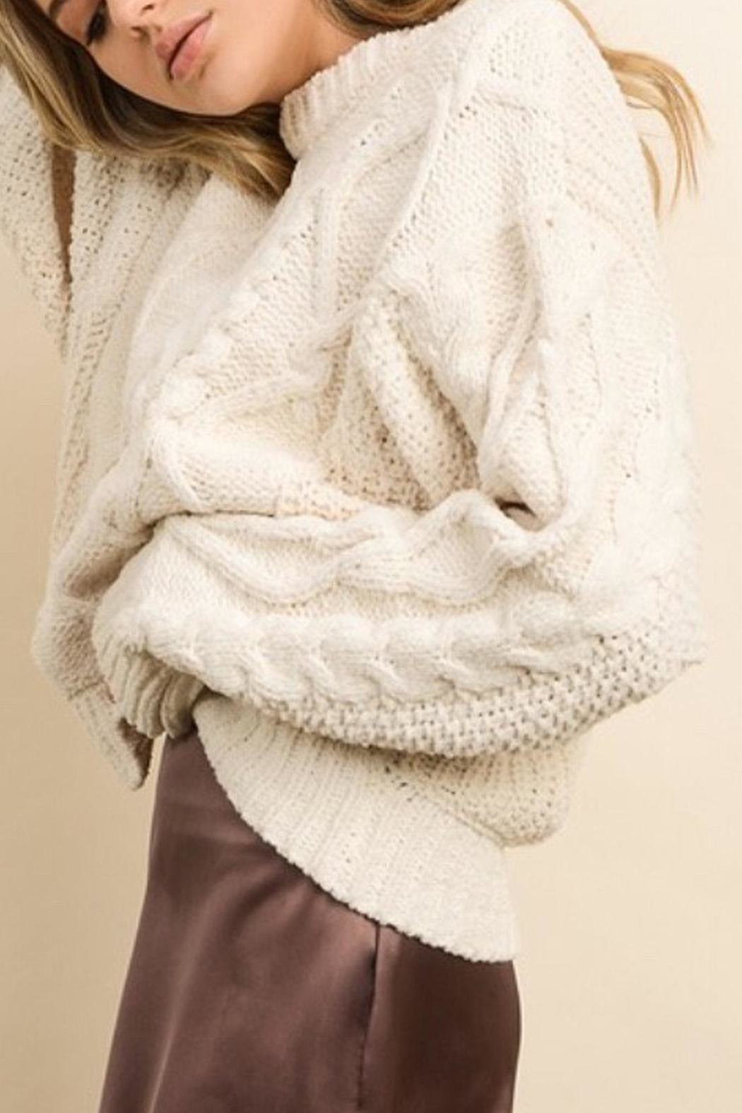 Style Trolley Cableknit Pullover - Front Full Image