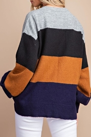 Style Trolley Kimberly Color-Block Sweater - Back cropped