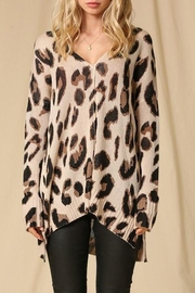Style Trolley Lysette Leopard Sweater - Front cropped