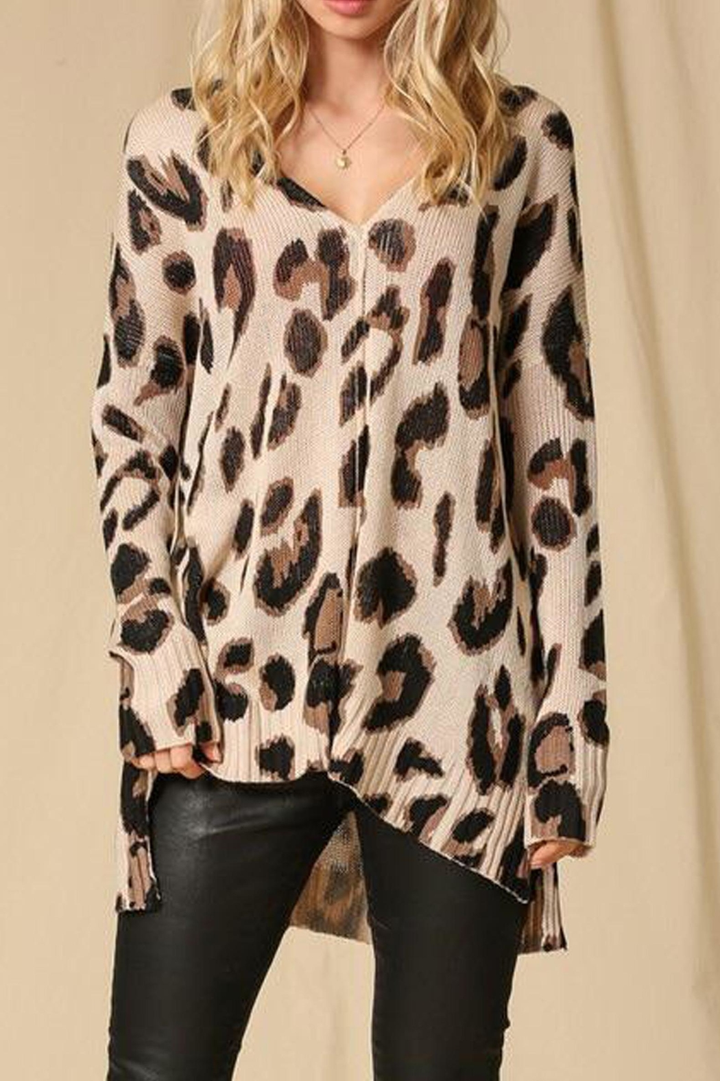 Style Trolley Lysette Leopard Sweater - Front Full Image