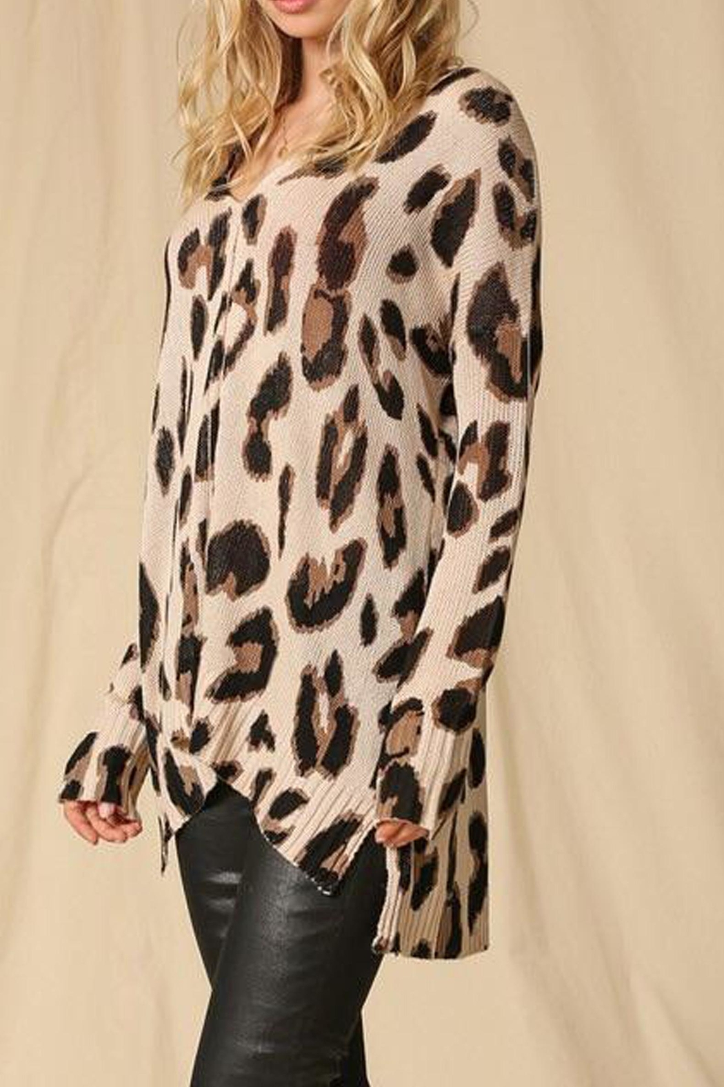 Style Trolley Lysette Leopard Sweater - Side Cropped Image