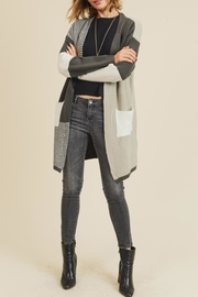 Style Trolley Multiple Block Cardigan - Back cropped