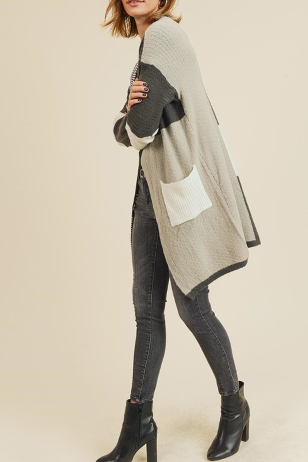 Style Trolley Multiple Block Cardigan - Front Full Image