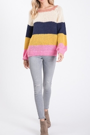 Style Trolley Rainbow Color-Block Sweater - Back cropped