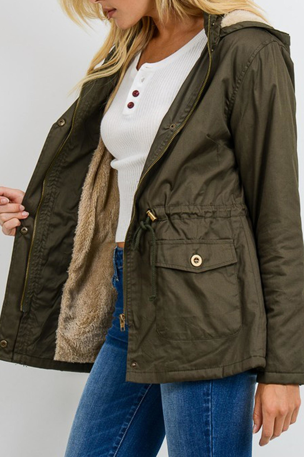 Style Trolley Utility Parka - Side Cropped Image