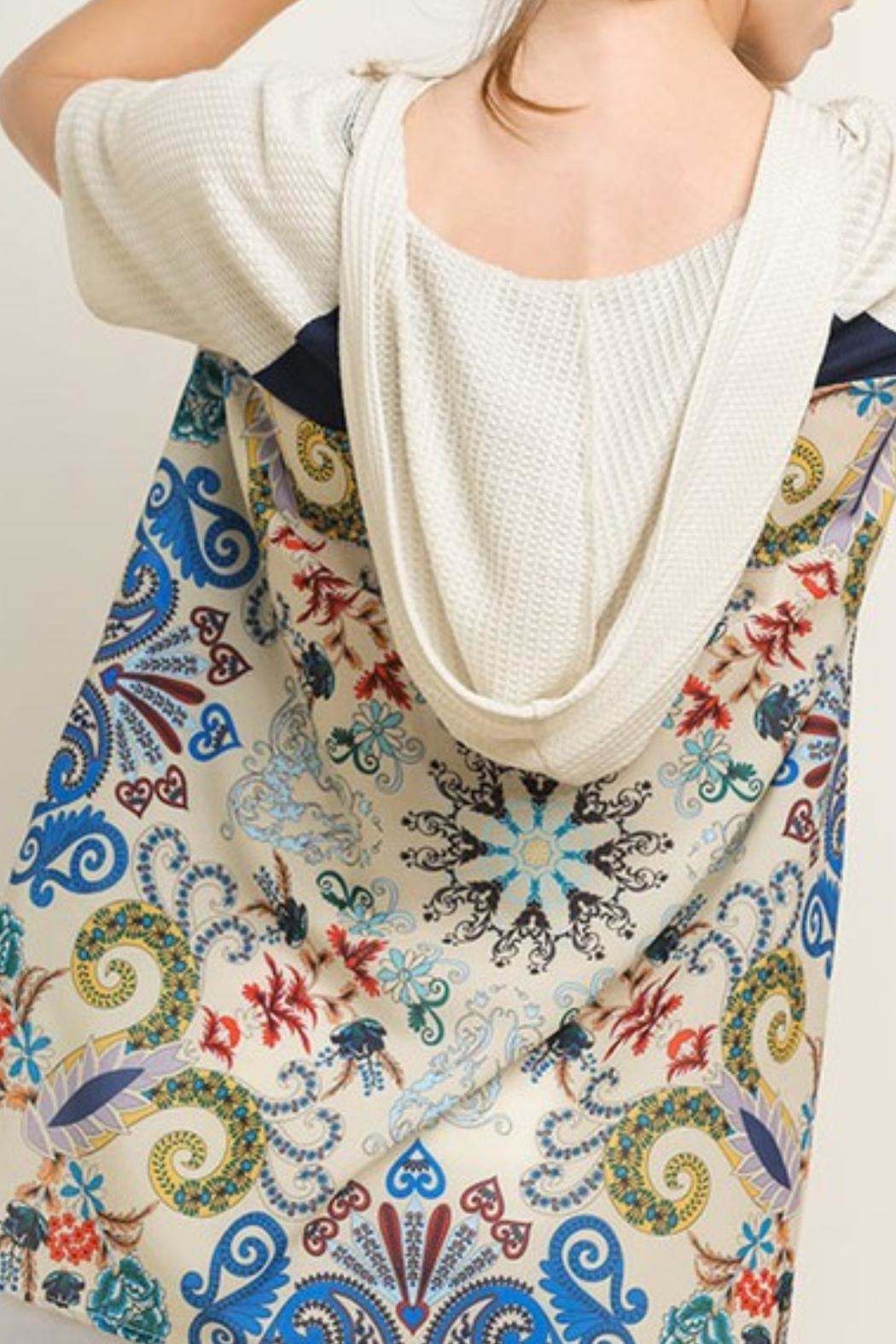 Style U Short-Sleeve Hooded Top - Front Full Image