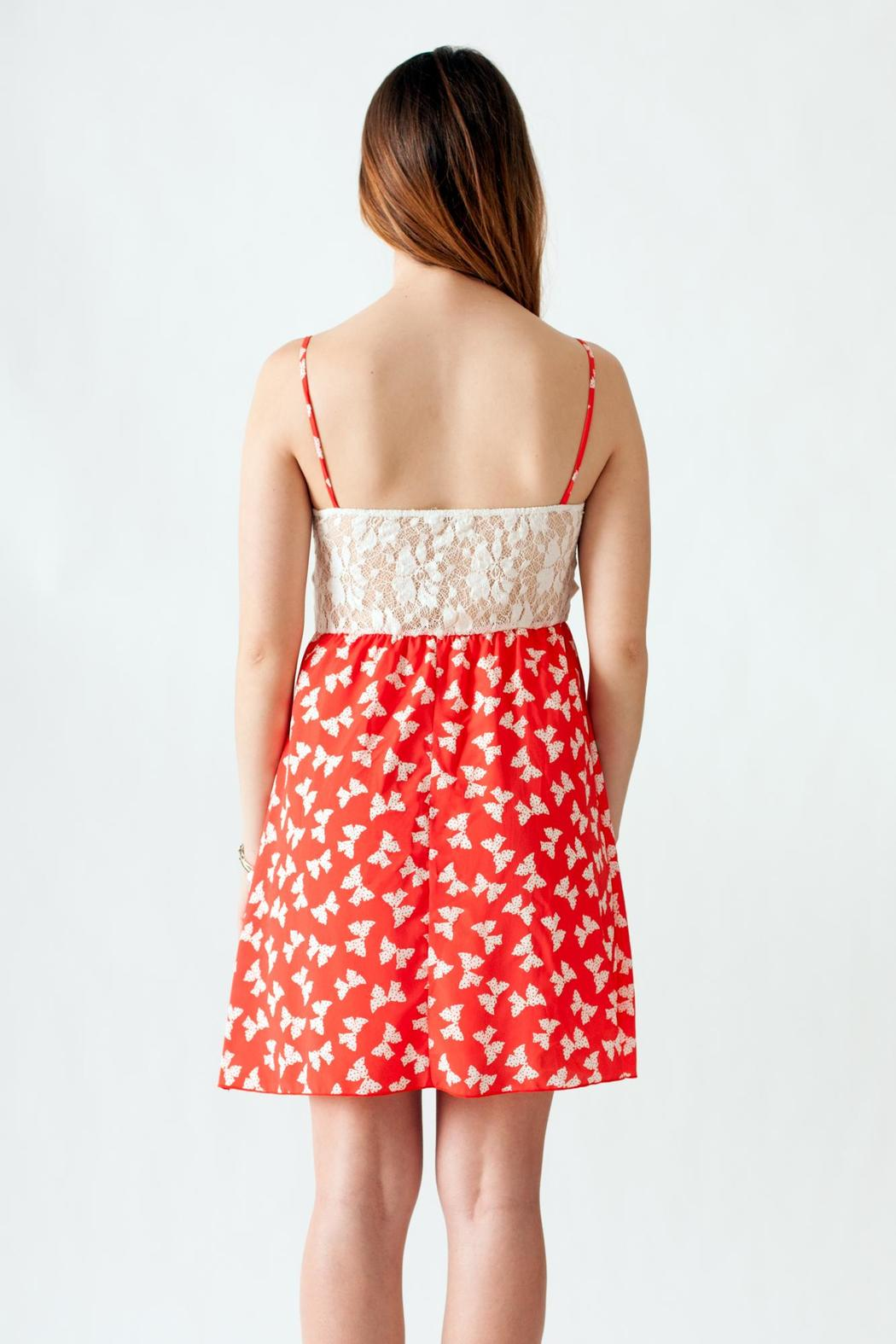 Stylebook Bow Print Dress - Back Cropped Image