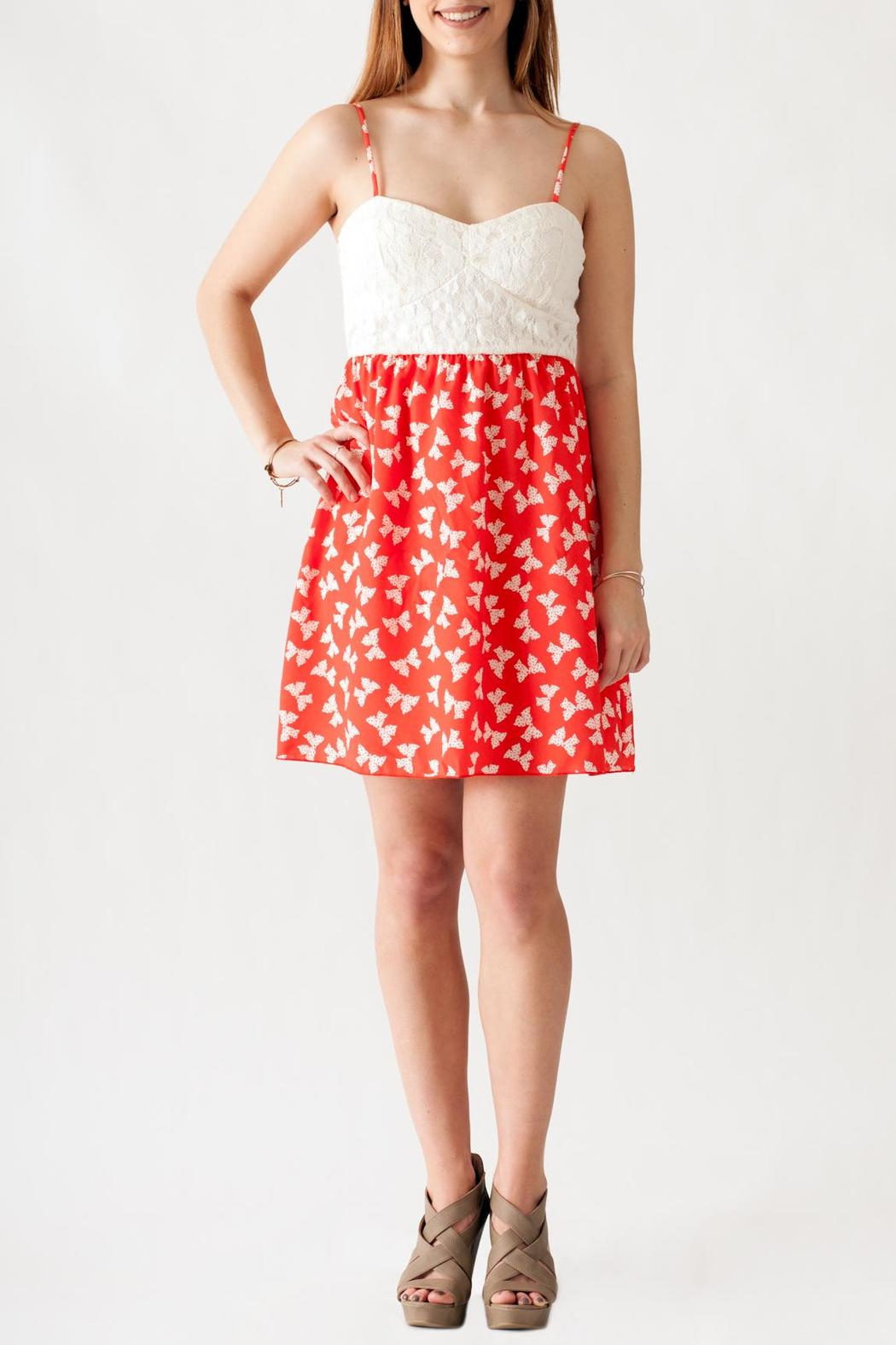 Stylebook Bow Print Dress - Front Full Image