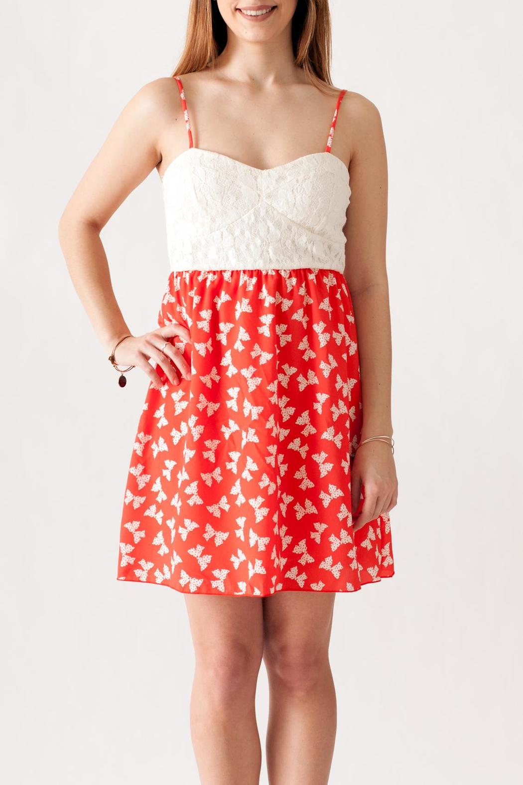 Stylebook Bow Print Dress - Front Cropped Image