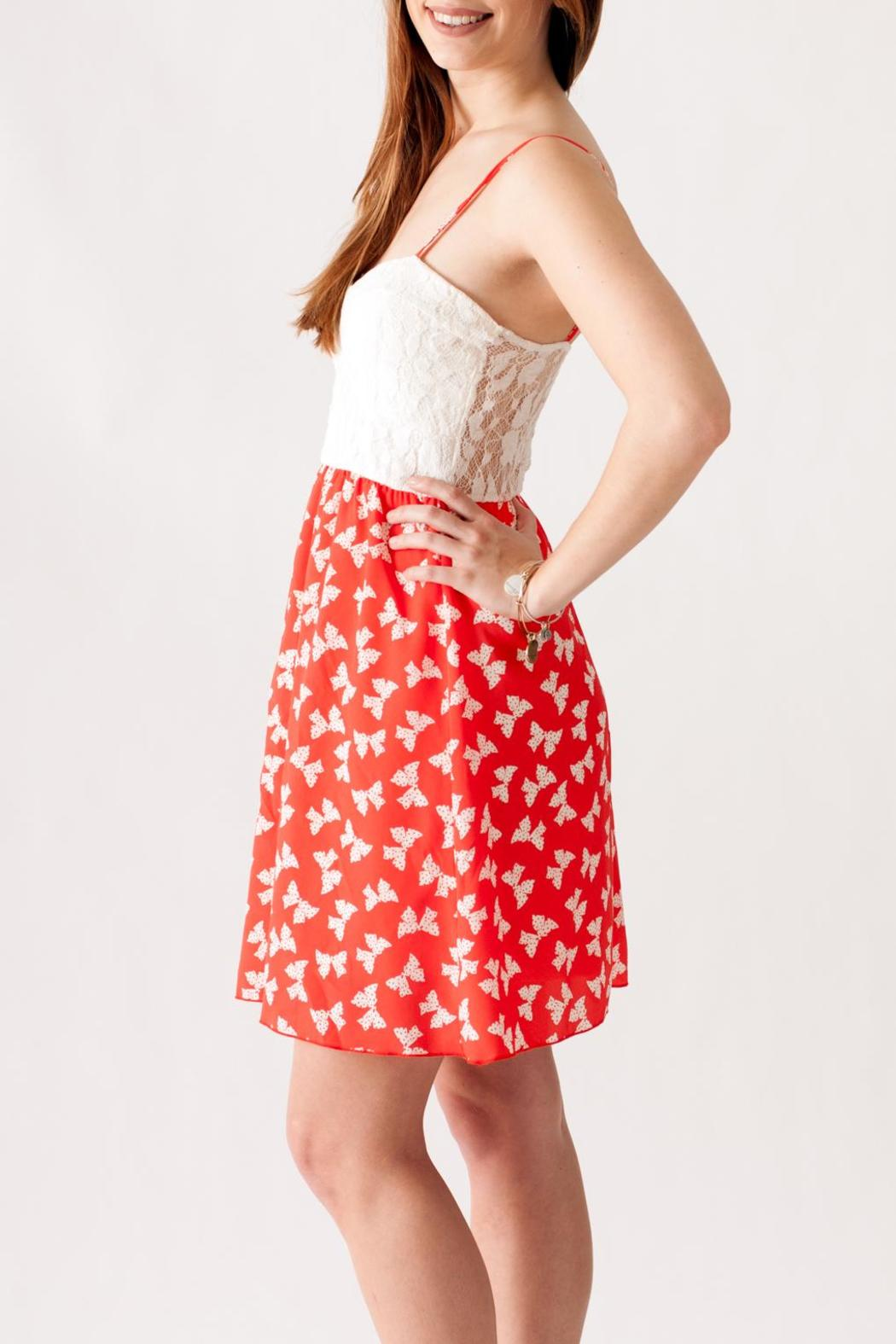 Stylebook Bow Print Dress - Side Cropped Image