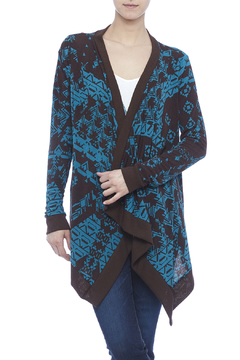 Shoptiques Product: Brown Teal Cardigan