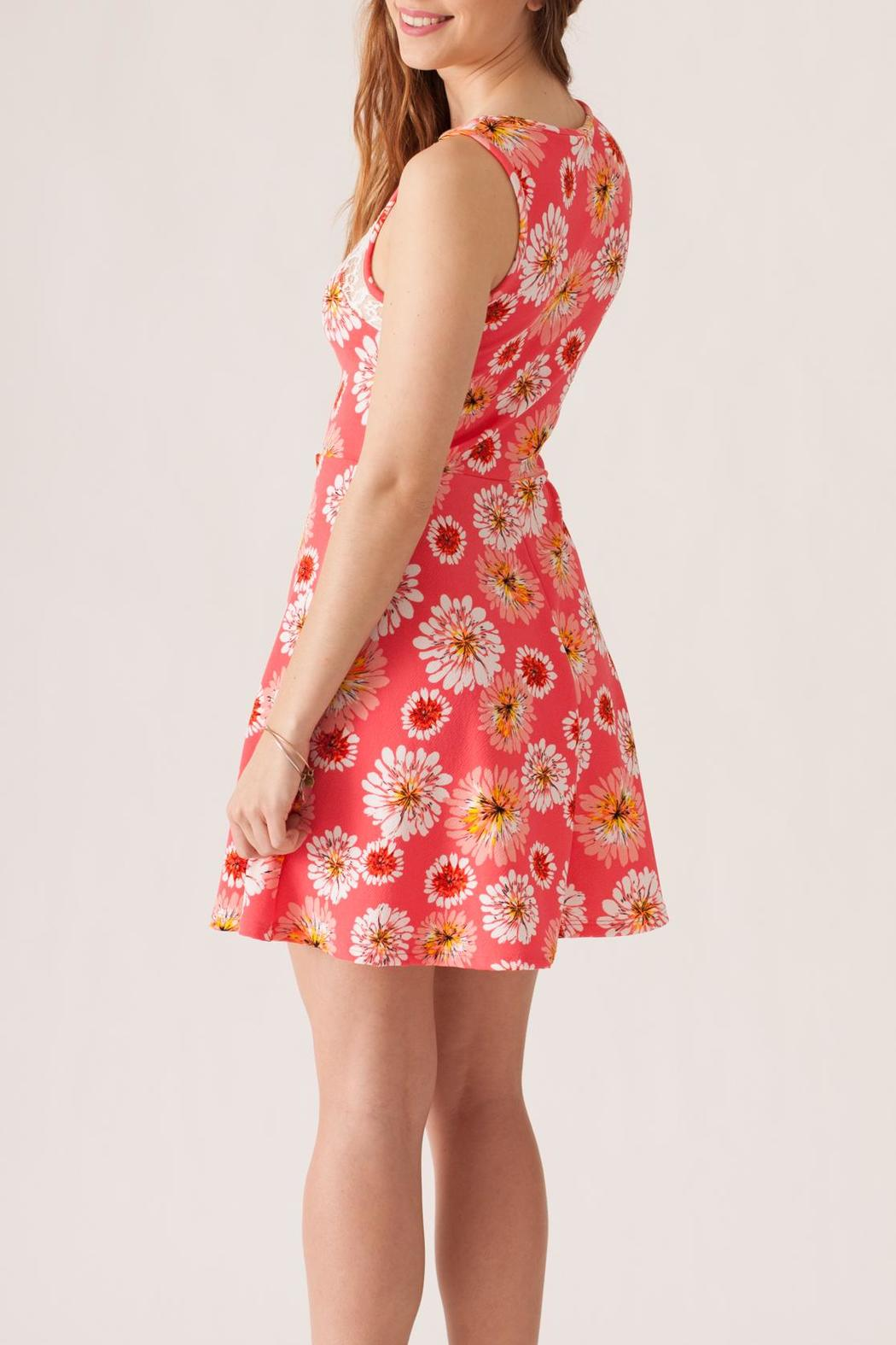 Stylebook Floral Print Dress - Back Cropped Image