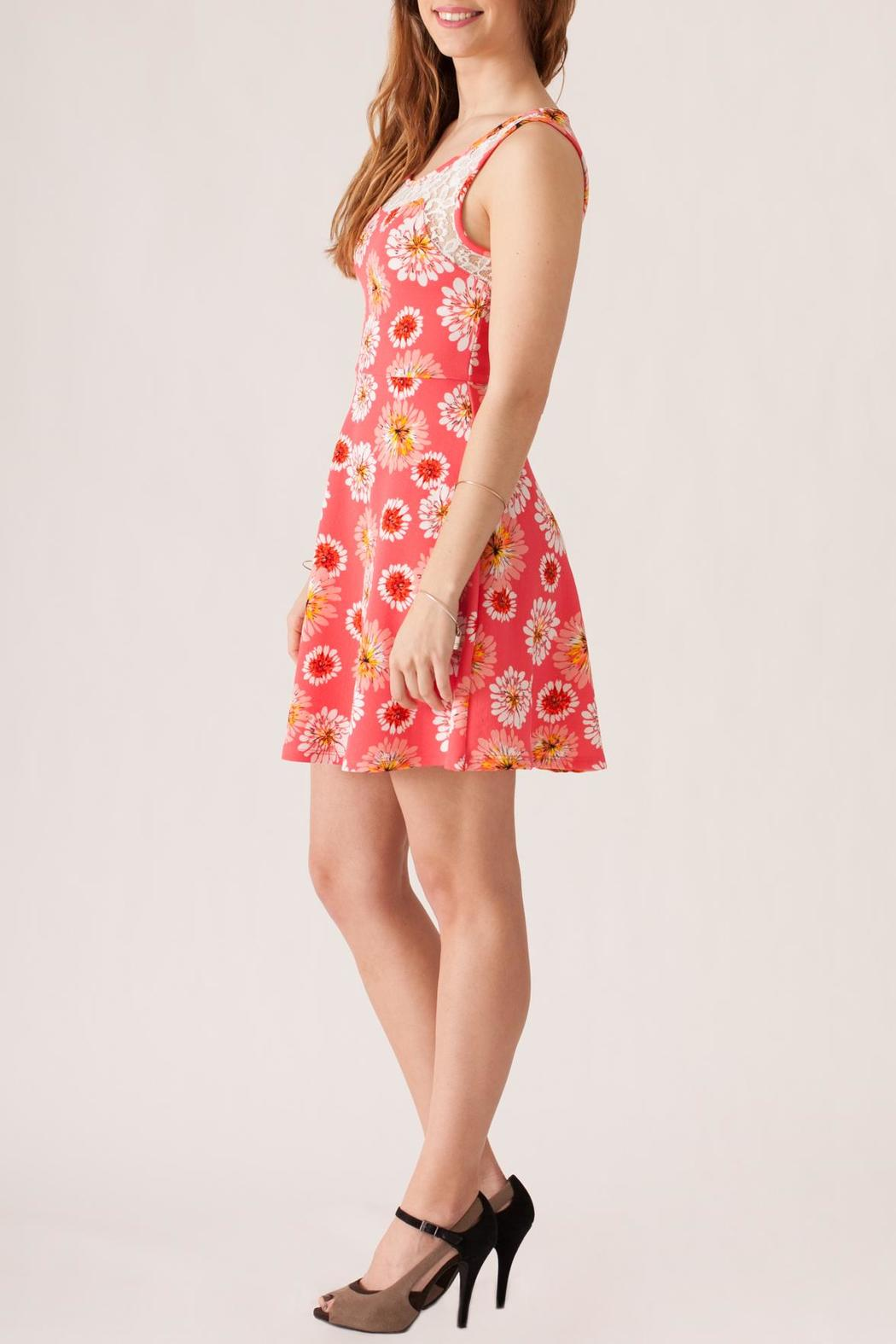 Stylebook Floral Print Dress - Side Cropped Image