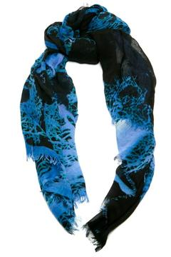 Styles Boutique Blue Watercolor Scarf - Alternate List Image