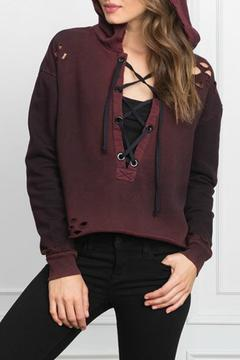 Styles Boutique Distressed Hooded Sweatshirt - Product List Image