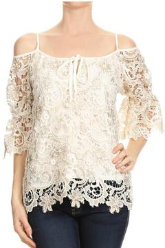 Styles Boutique Lace Cold-Shoulder Top - Alternate List Image