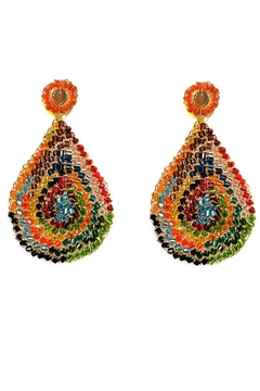Styles Boutique Multicolor Teardrop Earring - Alternate List Image