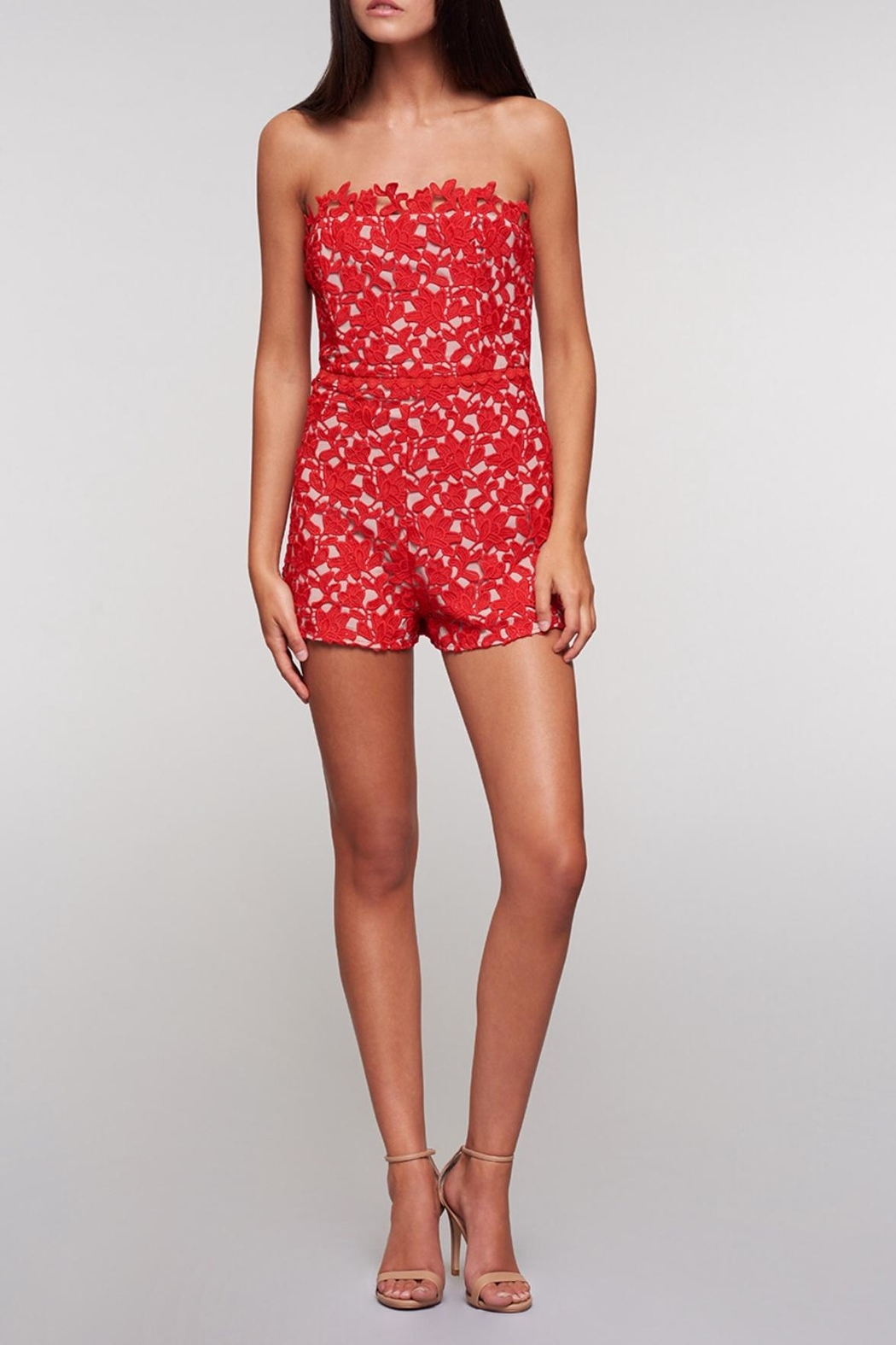 0b4f43e27796 Stylestalker Red Lace Romper from Germantown by On a Whim — Shoptiques