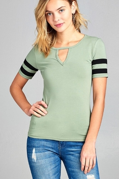 Bozzolo Stylish Baseball Tee - Alternate List Image