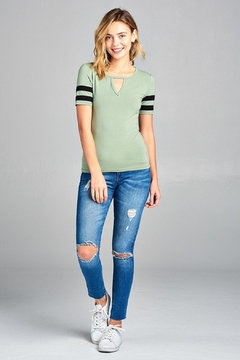 Bozzolo Stylish Baseball Tee - Product List Image
