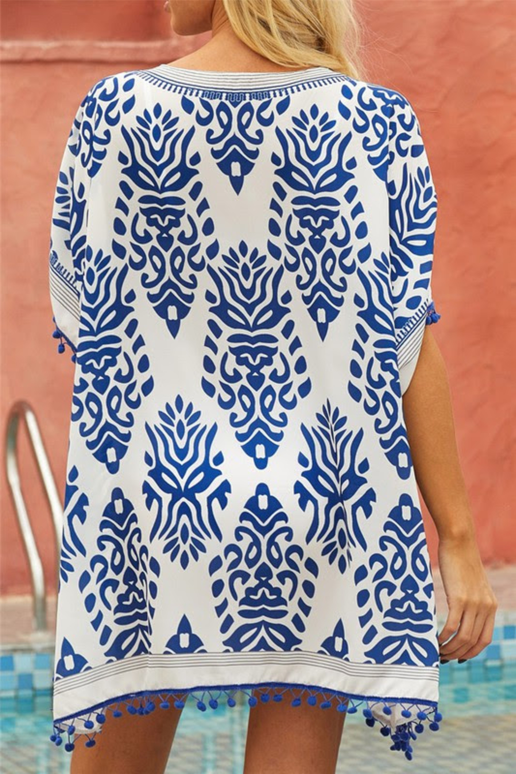 Shewin Stylish Beach Coverup - Front Full Image