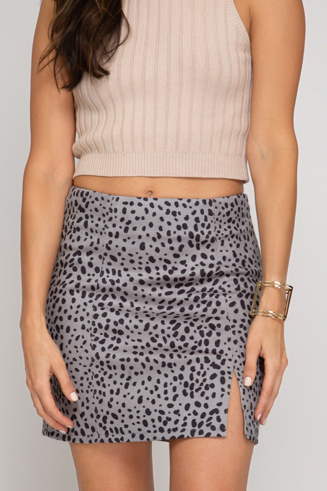 She & Sky  Stylish Standards Skirt - Front Cropped Image