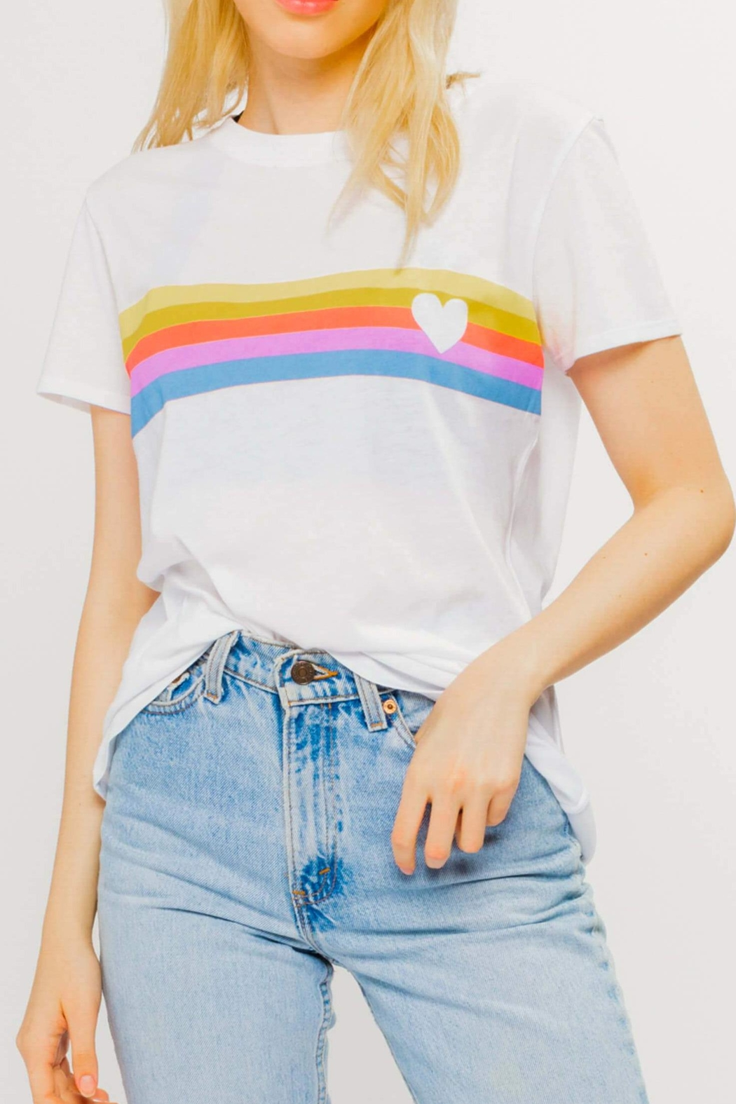 sub_urban Riot Heart Stripe Loose-Tee - Main Image