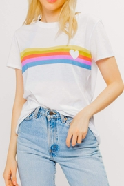 sub_urban Riot Heart Stripe Loose-Tee - Front cropped