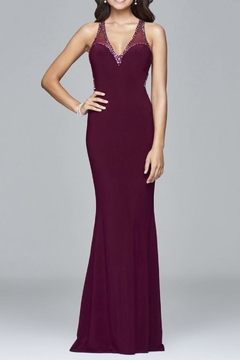 Faviana Subtle Beaded Gown - Product List Image