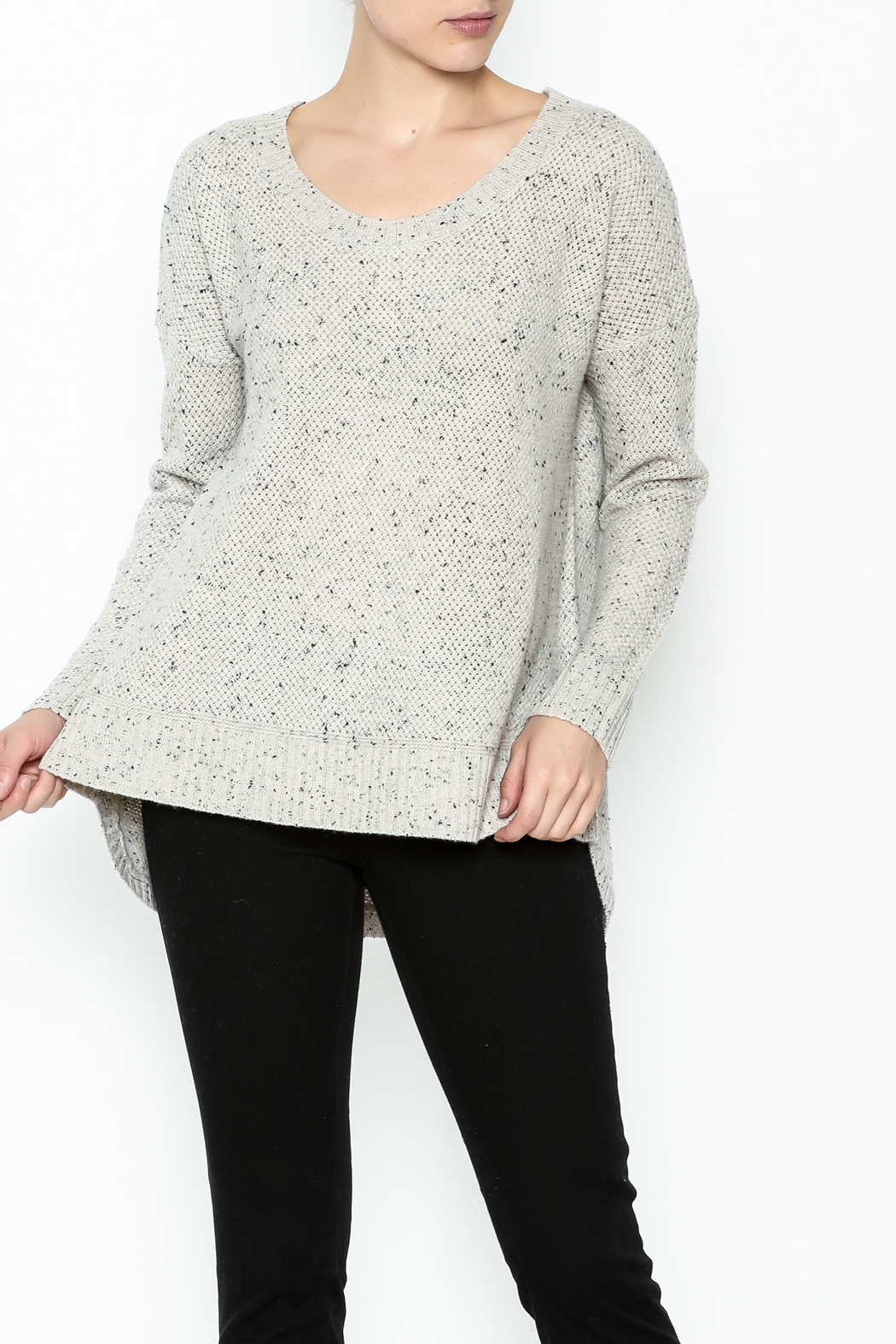 subtle luxury Basket Weave Pullover - Front Cropped Image