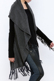 subtle luxury Cashmere Shawl Collar Vest - Product Mini Image