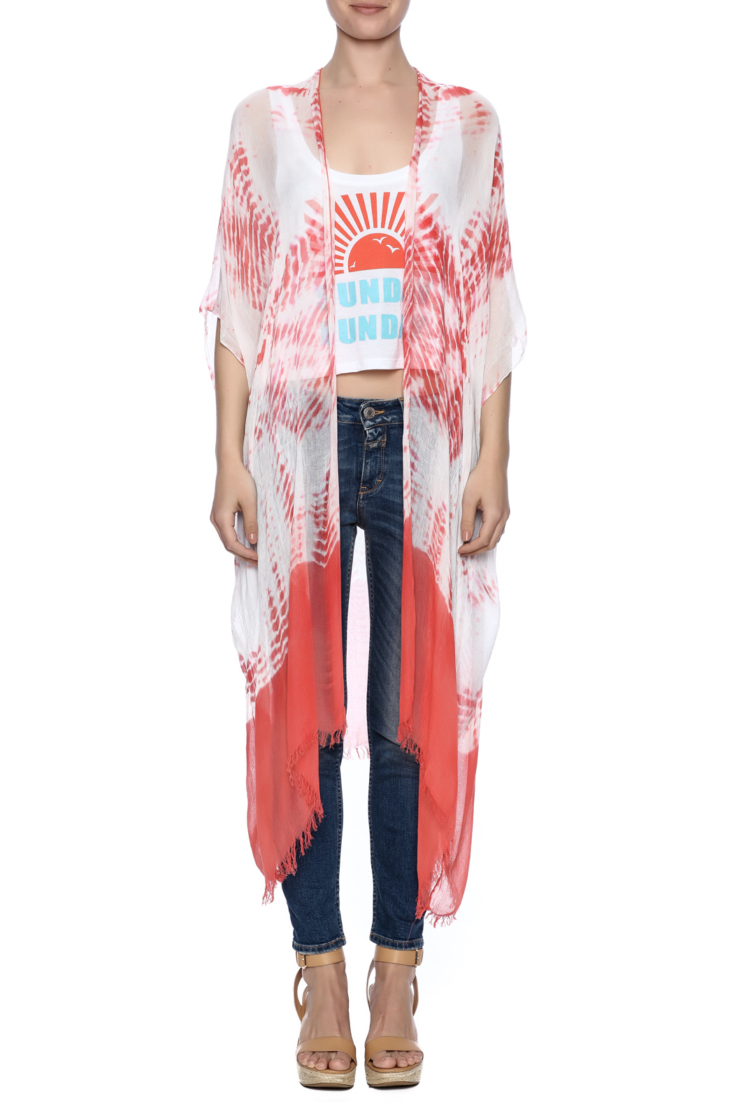 subtle luxury Coral Tie Dye Kimono from New York City by Bazaar à ...