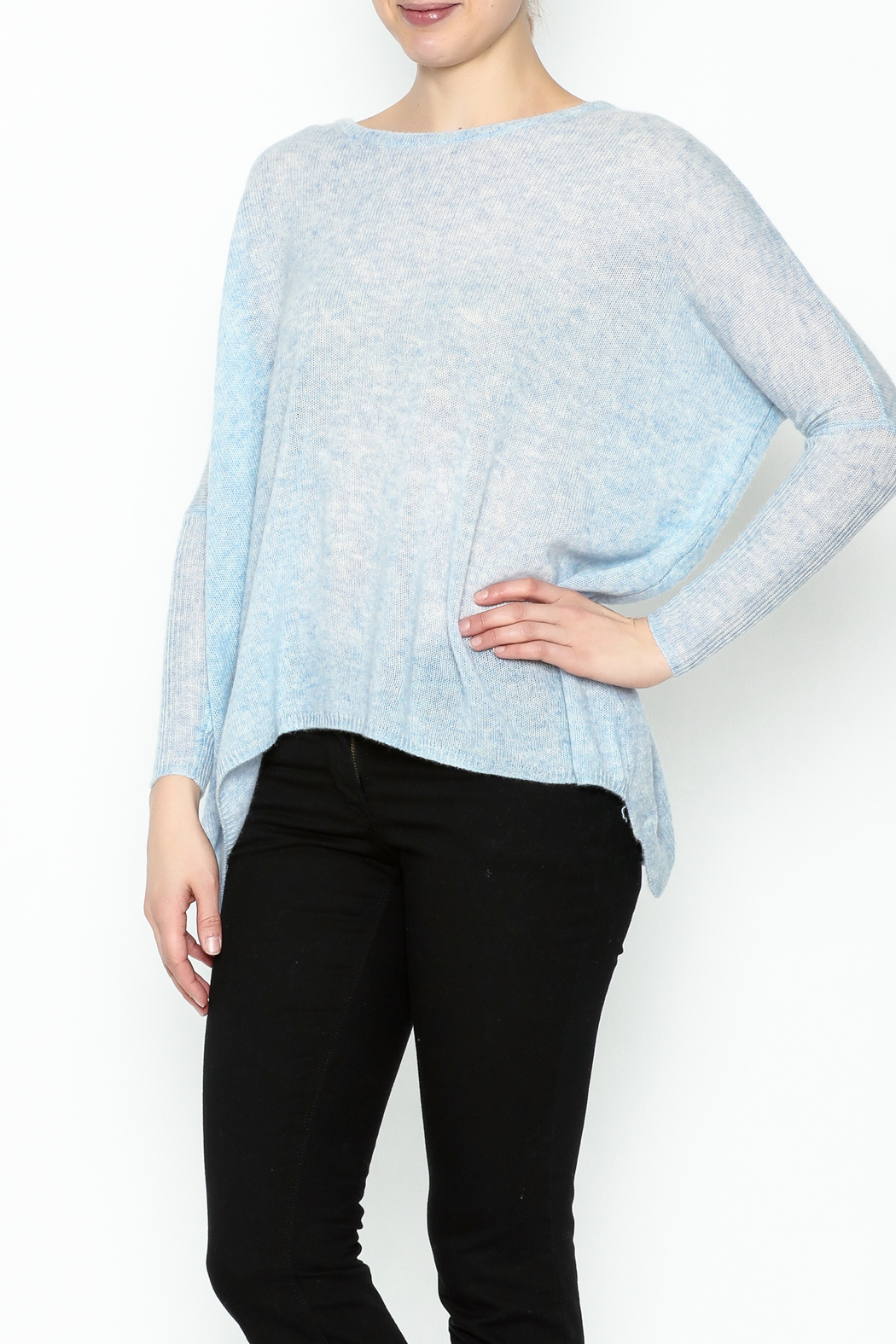subtle luxury Elsa Crew Pullover - Front Cropped Image
