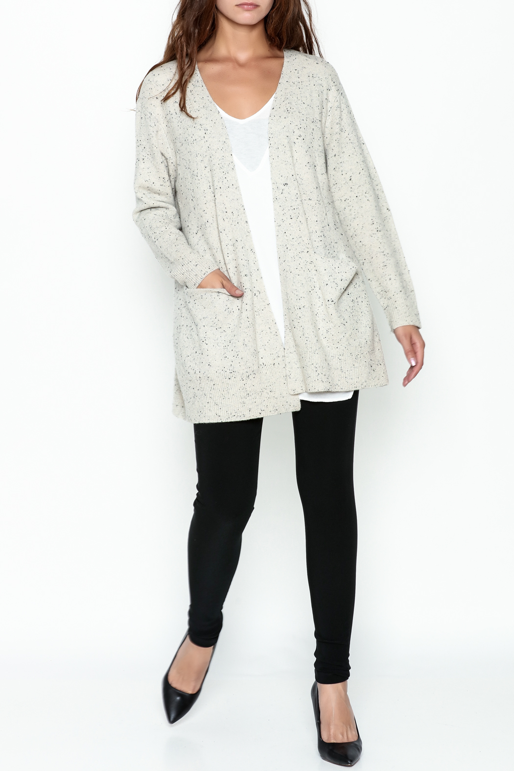 subtle luxury Lou Lounge Cardigan - Side Cropped Image