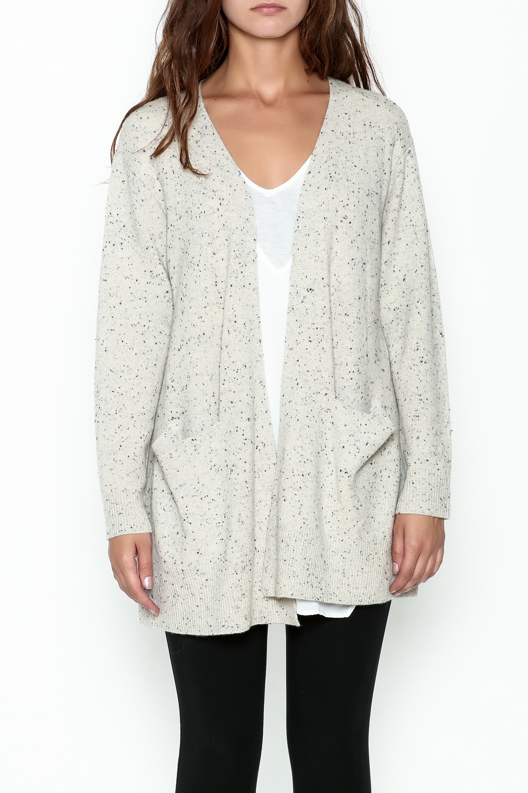subtle luxury Lou Lounge Cardigan - Front Full Image