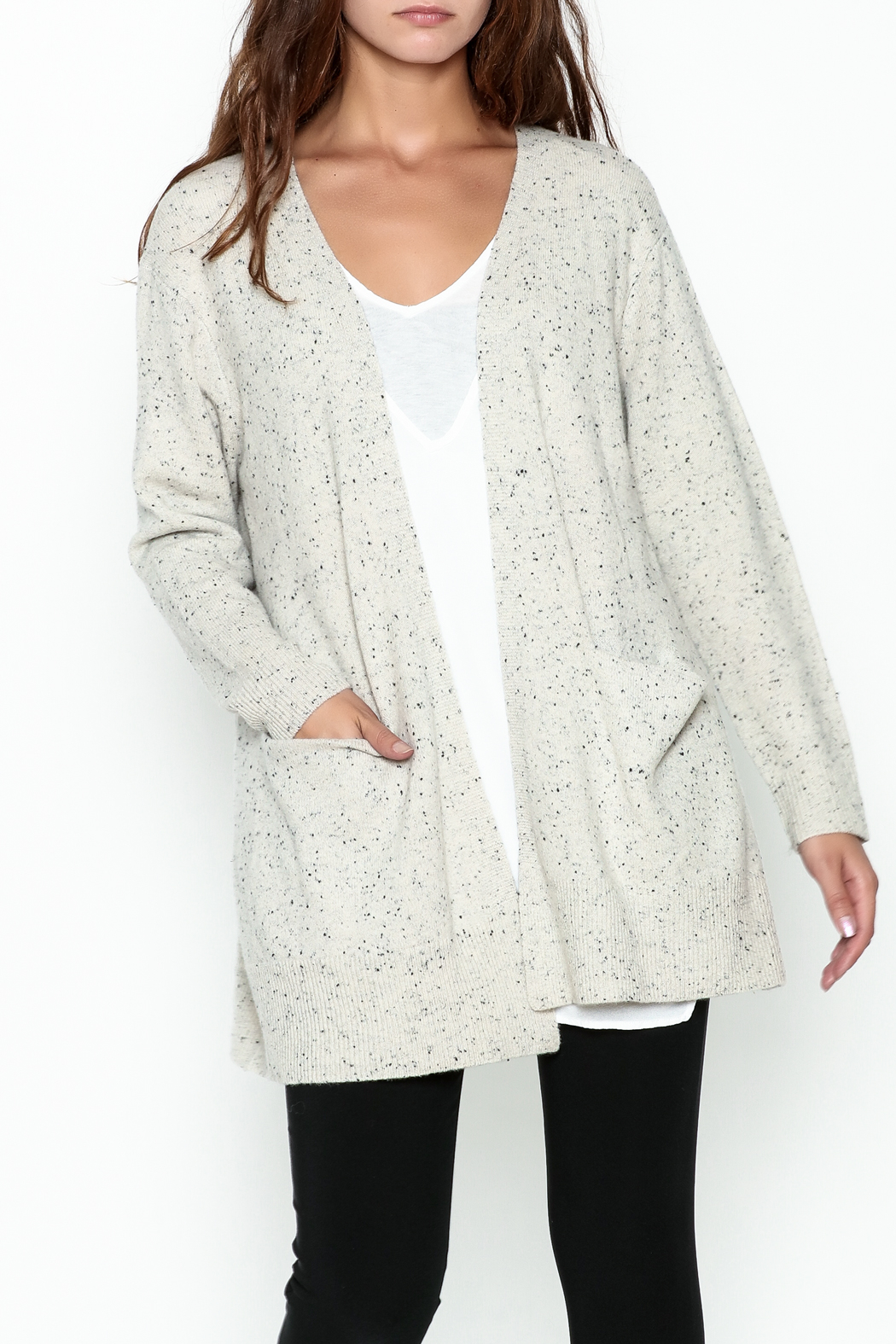 subtle luxury Lou Lounge Cardigan - Front Cropped Image